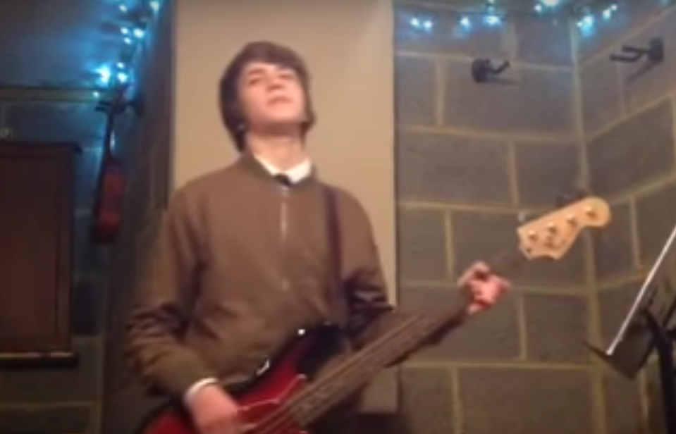 Tom plays Rockschool grade 3 bass piece.